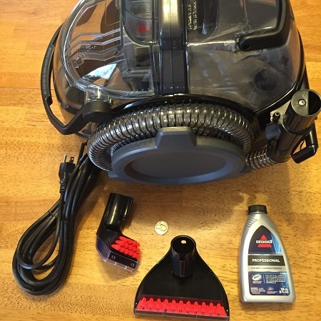 Bissell 3624 SpotClean Professional Portable Carpet Cleaner - Corded On Floor