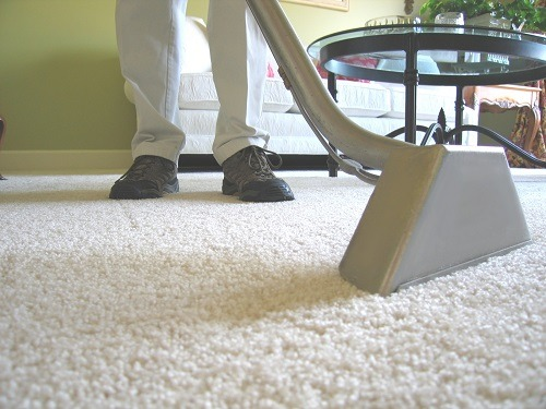 Grey Carpet Cleaner Used On Carpet