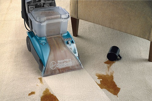 Hoover Carpet Cleaner SteamVac with Clean Surge Carpet Cleaner Machine F5914900 On Floor
